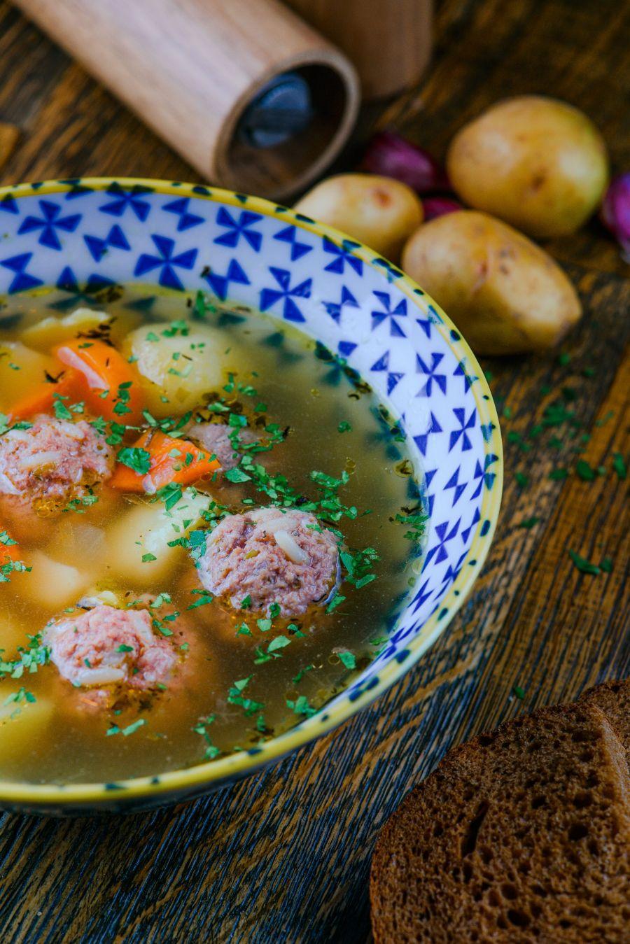Суп с фрикадельками для детей 71